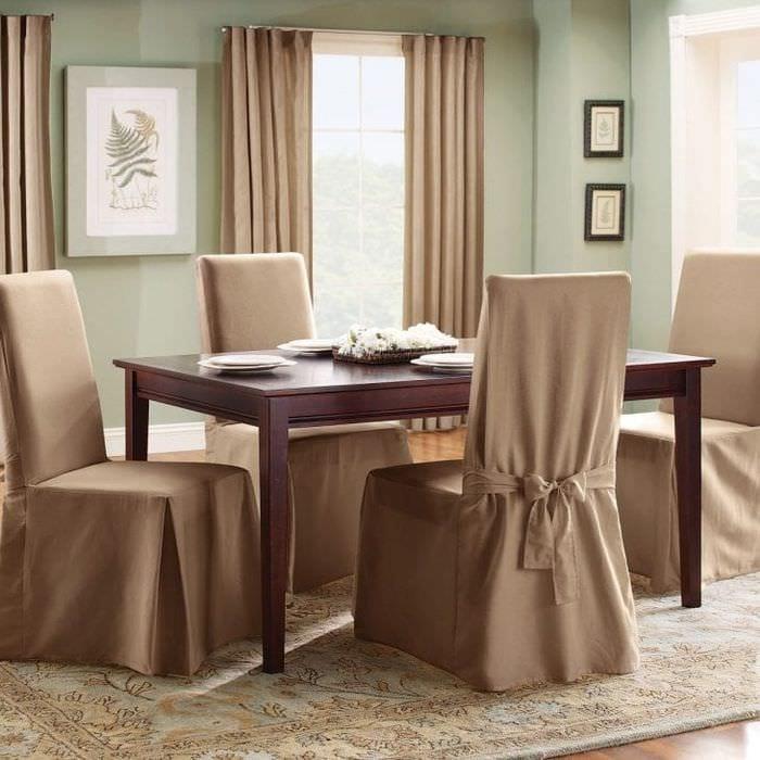 Чехлы накидные на стулья для кухни