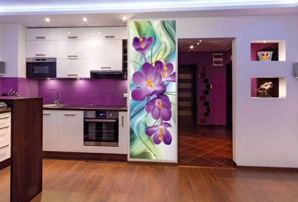Фотообои с изображением цветов для кухни