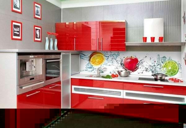 Фотообои с фруктами для оформления фартука кухни