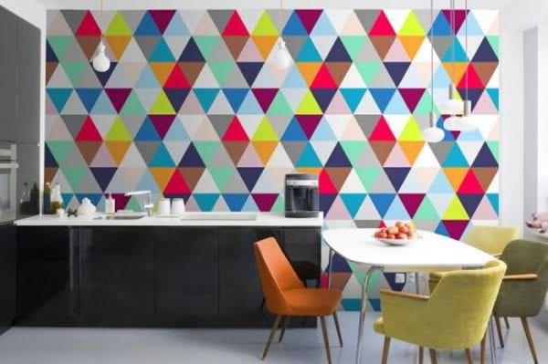 Фотообои в геометрическом стиле для кухни