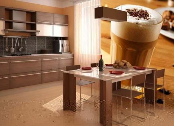 Фотообои с изображением кофе для кухни