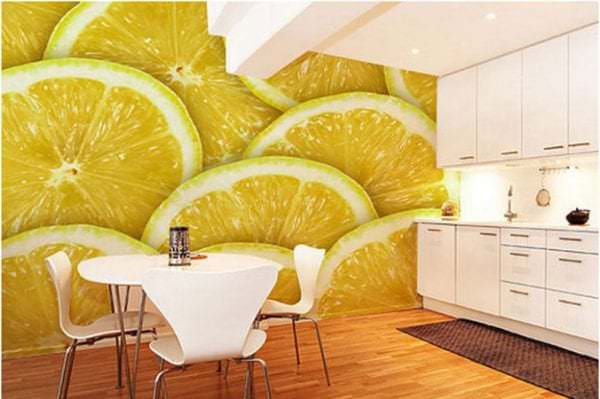 Фотообои с изображением лимона для кухни