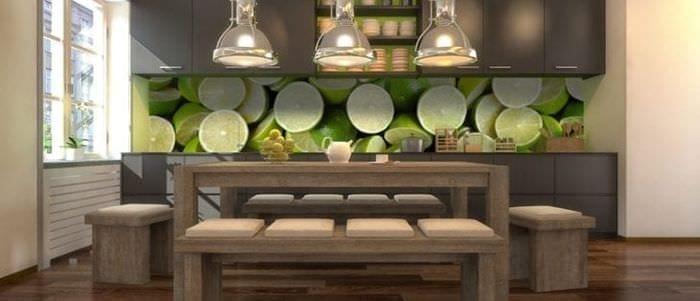 Фотообои с изображением лайма для кухни
