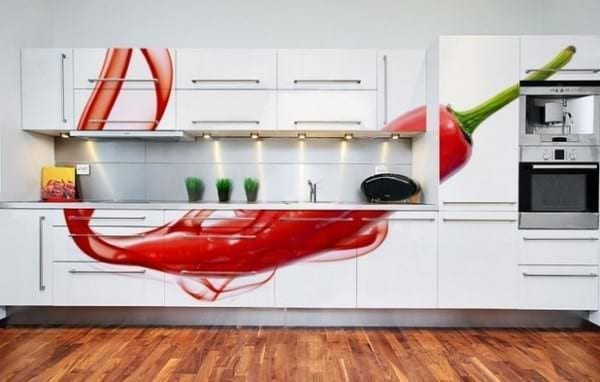 Фотообои с изображением перца чили для кухни
