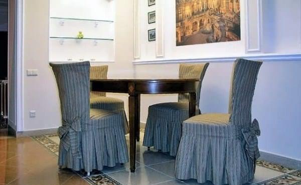 Чехлы оригинального фасона на стулья для кухни