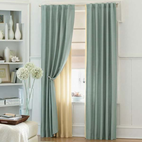Занавески для маленького окна в спальню