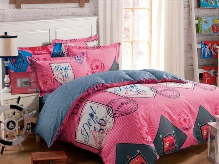 Пример оригинального постельного белья размера евро