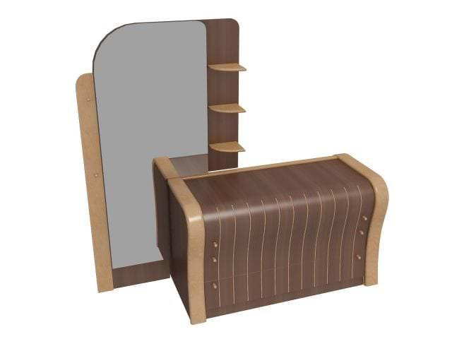 Стилистическое вливание современной мебели с зеркалом в спальню