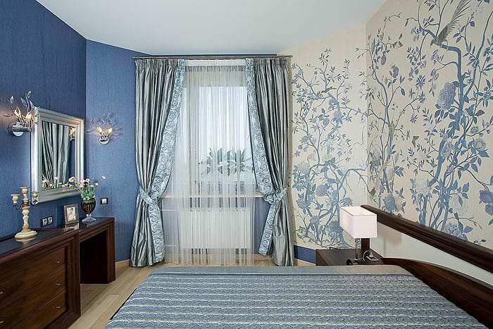 Занавески с рисунком в спальню