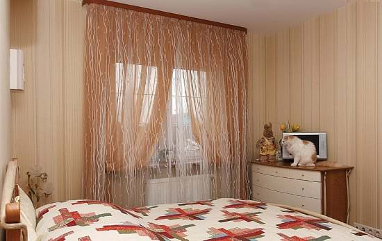 Занавески из органзы в спальню