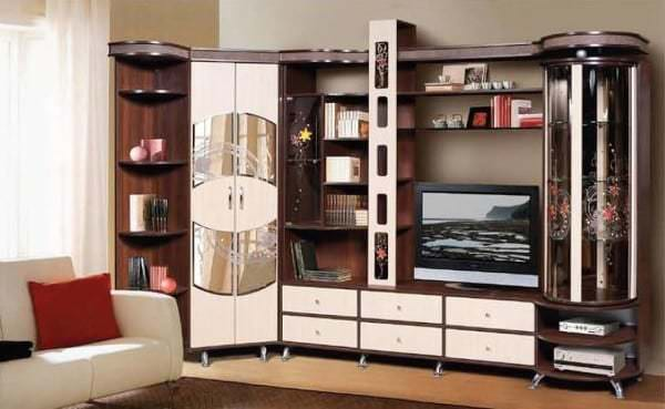 Стенка под телевизор в гостиную фото идеи: примеры оформления