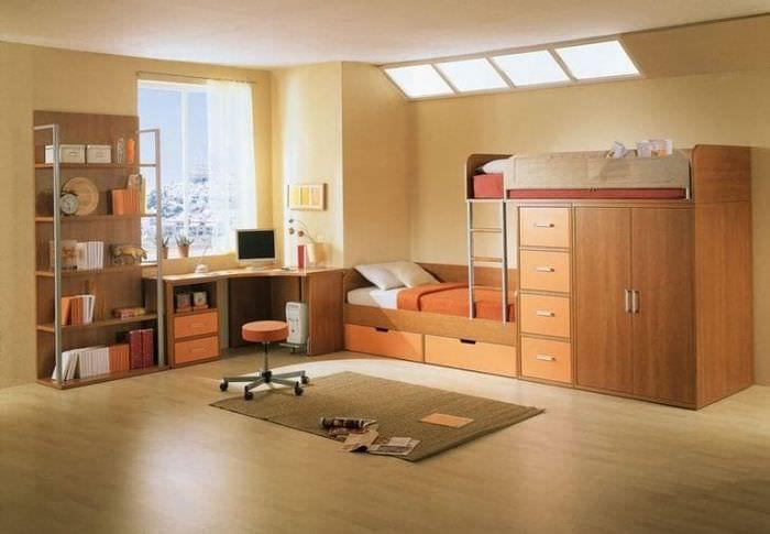Вариант димзайна детской комнаты для мальчика