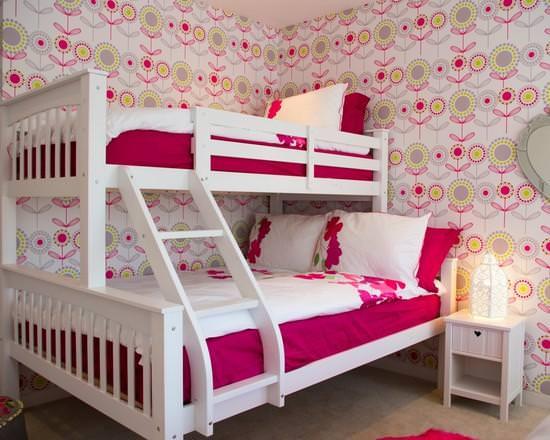 Дизайн-проекты обоев для детской комнаты для девочек с фото примерами