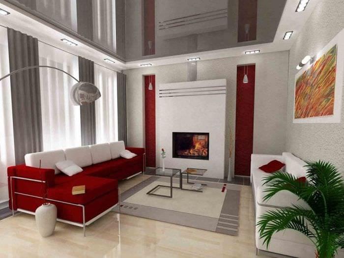 Плюсы и минусы натяжных потолков для гостиной с фото примерами