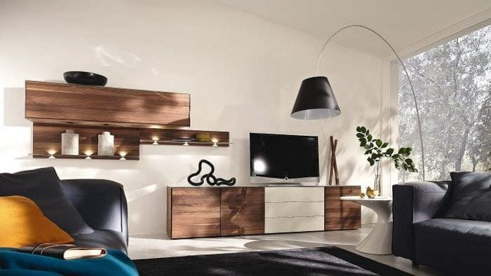 Дизайн тумбы под телевизор в строгом классическом стиле