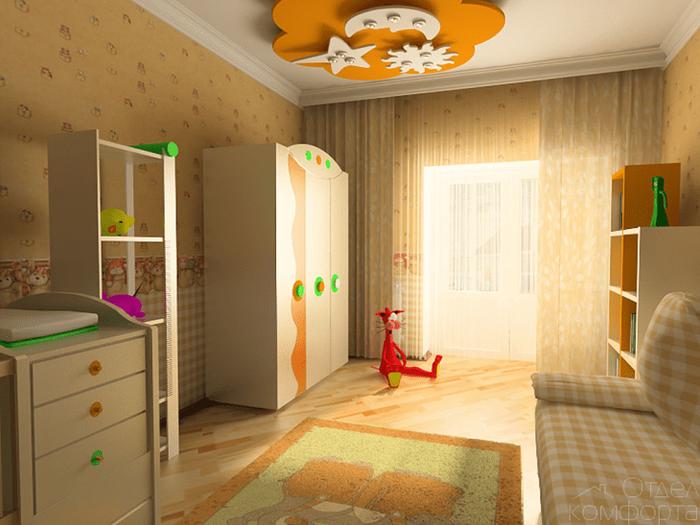 Стильный дизайн детской комнаты для новорожденного мальчика