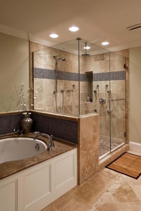 Современная и практичная душевая кабиная в ванной комнате
