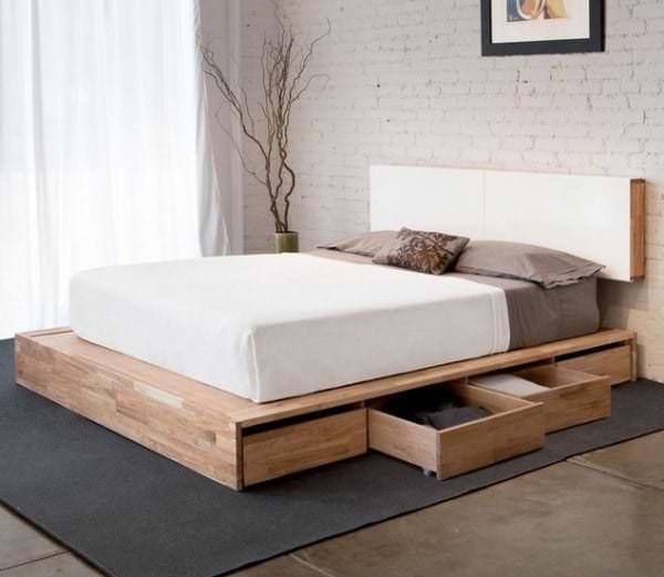 Подиум для спальни, как средство зонирование