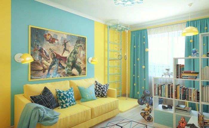 Идеи дизайна детской комнаты для мальчика с тематическими фото обоями