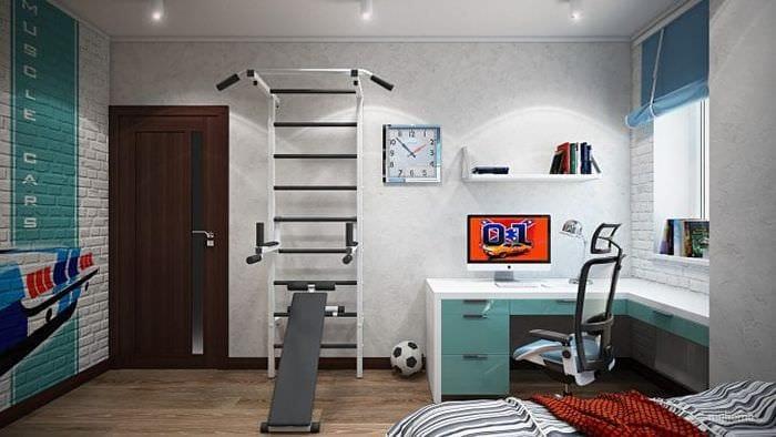 Идеи дизайна обоев для просторной и большой детской комнаты с высокими потолками