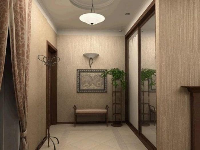 Идеи дизайна обоев для классического оформления прихожей и коридора