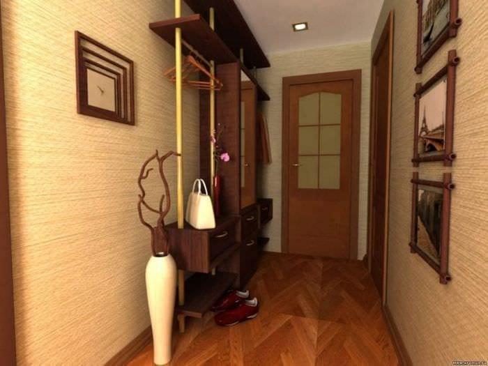 Идеи дизайна обоев для строго и классического стиля прихожей в квартире