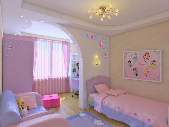 Фото дизайна для большой десткой комнаты