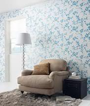 Обои Эрисман нежного голубого оттенка для гостиной или спальни