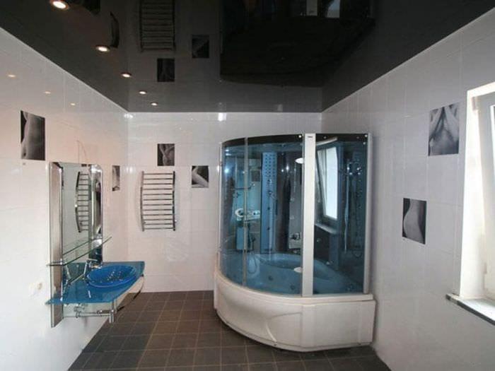 Натяжной потолок в ванной: плюсы и минусы, установка, советы