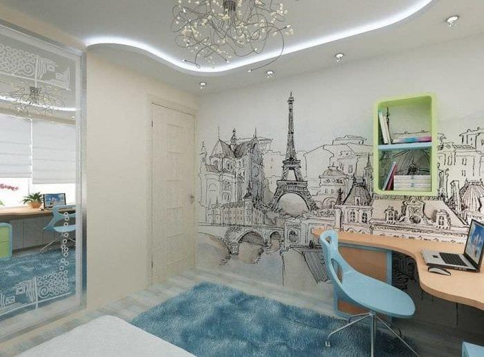 Современный стиль обоев для детской комнаты для мальчика