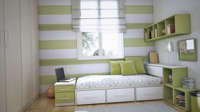 Современные идеи обоев для детской комнаты в теплых постельных тонах
