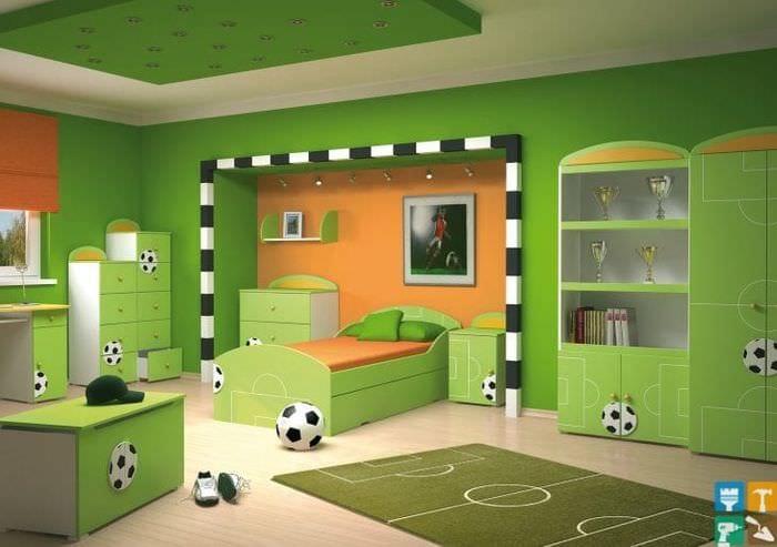 Детская комната для мальчика-футболиста