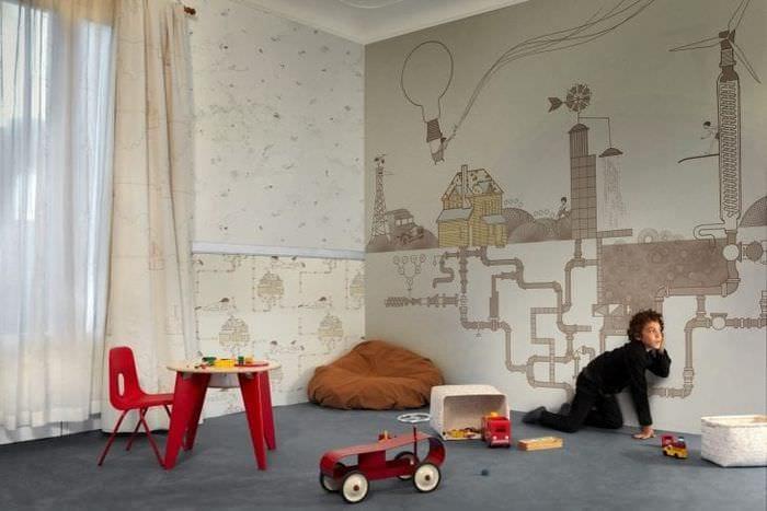 Выбираем необычные обои для детской комнаты для мальчика