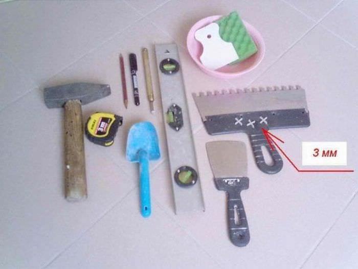 Инструменты, приспособления, материалы