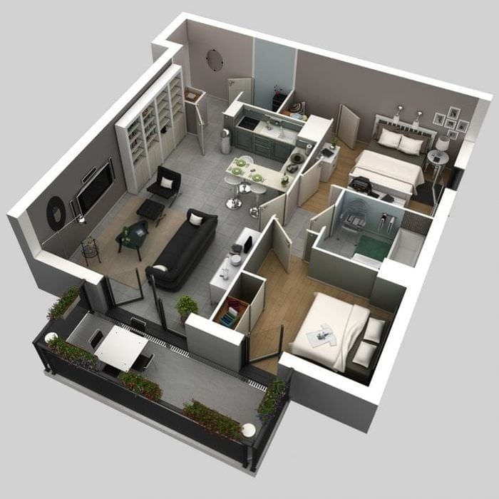 3d интерьер гостиной
