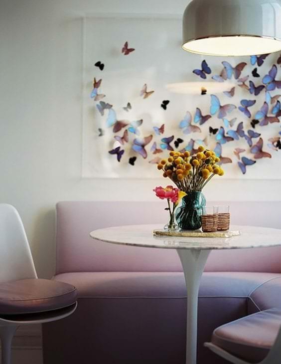 красивые бабочки в декоре детской