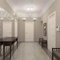 белые двери в стиле с оттенком коричневого картинка