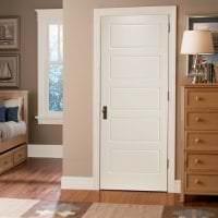 светлые двери в стиле с оттенком алого картинка