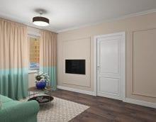 светлые двери в дизайне с оттенком темного картинка