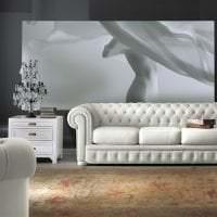 белый диван в стиле гостиной картинка