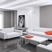 яркий диван в интерьере спальни картинка