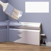 яркий плинтус из лдф в интерьере квартиры фото