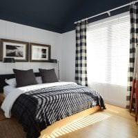 черные обои в дизайне спальни в стиле необарокко фото
