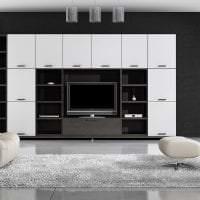 черные обои в интерьере спальни в стиле готика фото