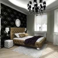 черные обои в дизайне комнаты в стиле готика картинка