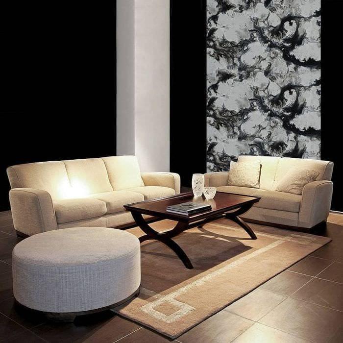 черные обои в дизайне коридора в стиле хай тек