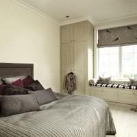темная спальня комната дизайн картинка
