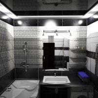деревянный черный потолок в стиле прихожей фото