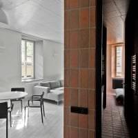 интерьер потолка с раствором бетона в доме фото
