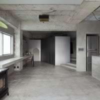 отделка потолка с бетоном на кухне картинка